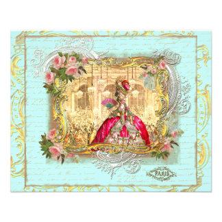 Marie Antoinette Party bij de Vlieger van Versaill Gepersonaliseerde Folder