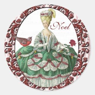 Marie Antoinette, vacances, autocollants ronds