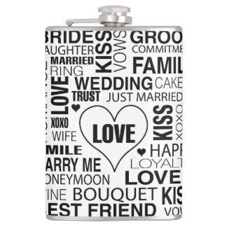 Marié de mots de mariage de cadeau de flacon de