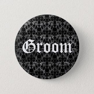 Marié gothique élégant badge rond 5 cm