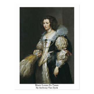 Marie-Louise De Tassis By Anthony Van Dyck Carte Postale
