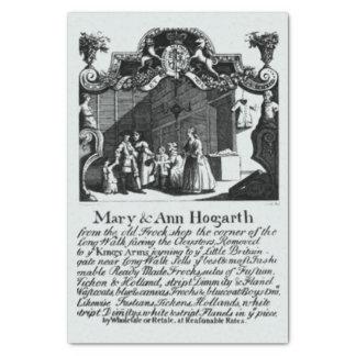 Mariez et carte de visite d'Ann Hogarth Papier Mousseline