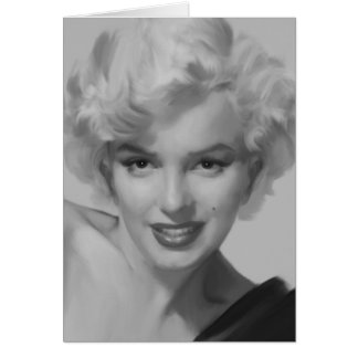 Marilyn le regard carte de vœux