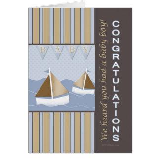 Marin de bébé de félicitations carte de vœux