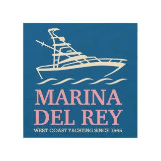 Marina Del Rey Hout Afdruk