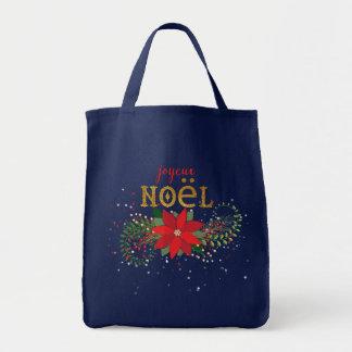Marine de bleu français de Joyeux Noël Tote Bag