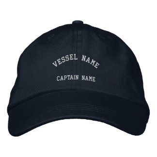 Marine de casquette brodée par navire de