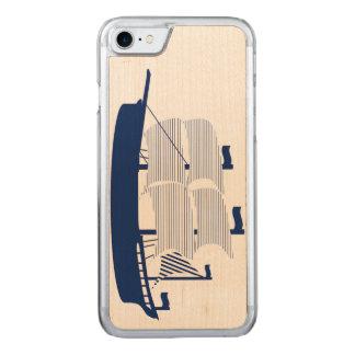 Marine de schooner coque carved iPhone 8/7