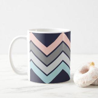 Marine élégante de tasse de café avec Chevron en