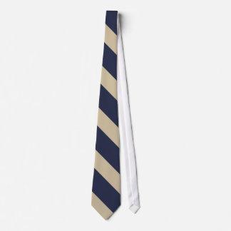 Marine et cravate pâle d'université d'or