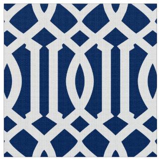 Marineblauw Marokkaans Patroon | Stof
