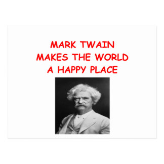 MARK TWAIN CARTE POSTALE
