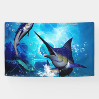 Marlin impressionnant avec des bulles banderoles