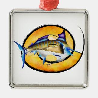 Marlinissos V1 - dos de witout de violinfish Ornement Carré Argenté