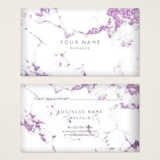 Marmeren Benoeming van Carrara van de paarse Pruim Visitekaartjes