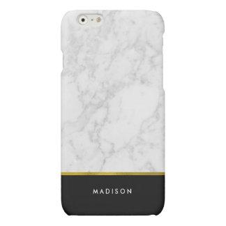Marmeren Patroon en Gouden Folie Faux iPhone 6 Hoesje Mat