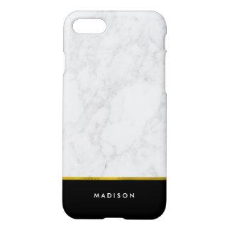 Marmeren Patroon en Gouden Folie Faux iPhone 8/7 Hoesje