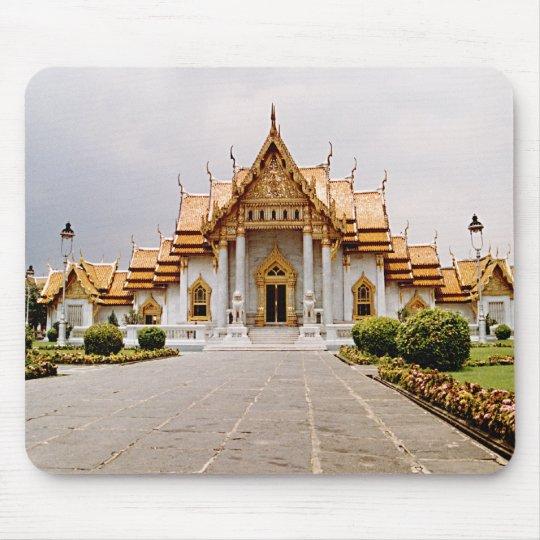 Marmeren Tempel van Goud over Khmer Leeuw Mousepad Muismat