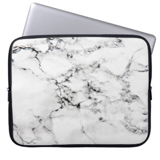 Marmeren textuur laptop sleeve