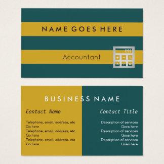 """Marque"" des cartes de visite de comptable"
