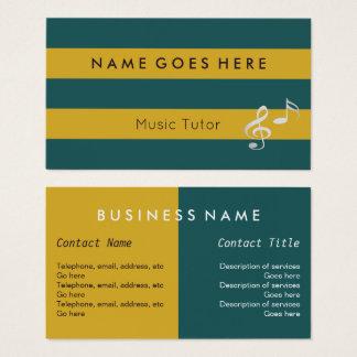 """""""Marque"""" des cartes de visite de tuteur de musique"""