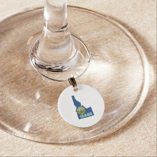 Marque-verres Drapeau et carte d'état de l'Idaho