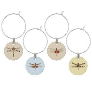 Marque-verres Étiquettes de vin de libellule