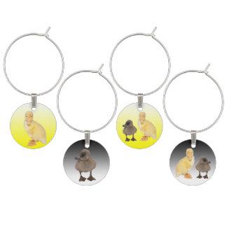 Marque-verres Photographies jaunes et grises adorables de