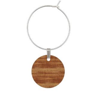 Marque-verres Regard du bois de grain d'acacia bouclé de Koa