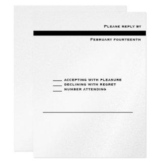 Marquez juif hébreu de barre d'invitation carton d'invitation 10,79 cm x 13,97 cm