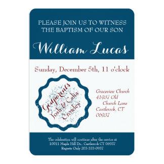 Marquez l'invitation de baptême carton d'invitation  12,7 cm x 17,78 cm