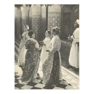 Marrakech vintage, Maroc, dames Carte Postale