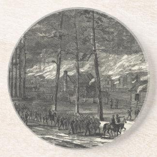 Mars de Sherman vers la mer par la Caroline du Sud Dessous De Verres