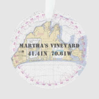 Martha's Vineyard 2-Sided nautique commémoratif