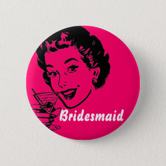 martinitoast, demoiselle d'honneur badge rond 5 cm