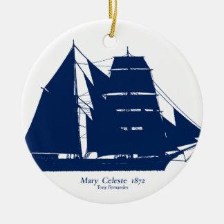 Mary Celeste 1872 par les fernandes élégants Ornement Rond En Céramique