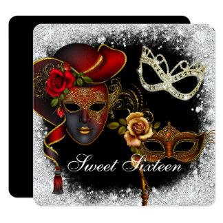 Mascarade de sweet sixteen, invitation de mardi