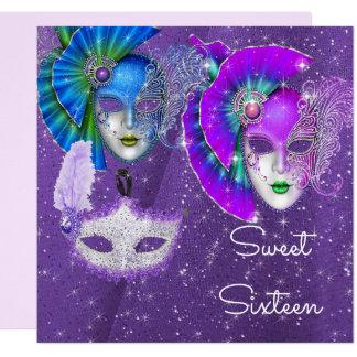 Mascarade, sweet sixteen de mardi gras, invitation