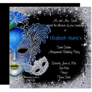 Mascarade, sweet sixteen, invitation de