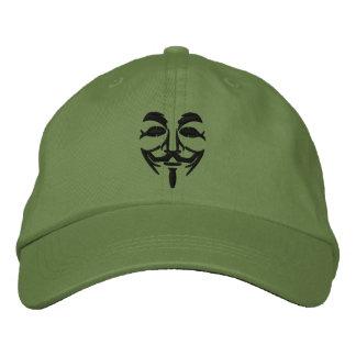 Masque brodé anonyme casquettes brodées