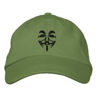 Masque brodé anonyme casquettes de baseball brodées