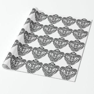Masque tribal maori de tatouage papier cadeau