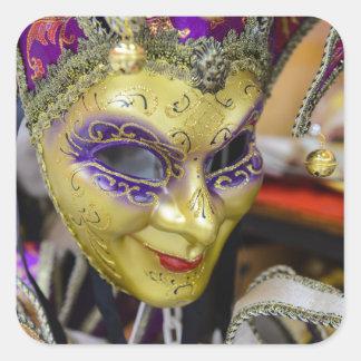 Masques de carnaval à Venise Italie Sticker Carré