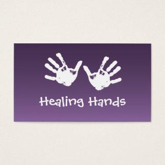 Massage curatif de mains - Reiki Cartes De Visite
