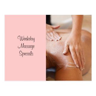 Massage et photos de carrosserie carte postale