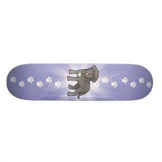 Mastiff napolitain de bande dessinée skateboards customisés