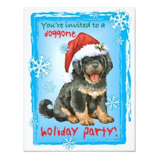 Mastiff tibétain heureux de Howliday Carton D'invitation 10,79 Cm X 13,97 Cm