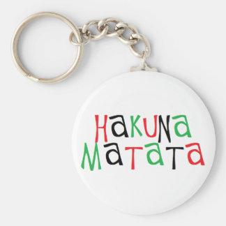 Matata de Hakuna Porte-clé Rond