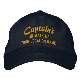 MATE de capitaine personnalisez-le ! Casquette Casquettes Brodées