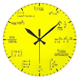 Matematic Clock Grande Horloge Ronde
